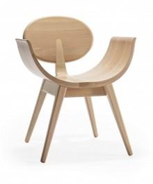 Drewniane krzesło ovale do jadalni, salonu, restauracji