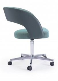 Elegancki fotel ring/r z metalową podstawą na kółkach do gabinetu, biura, pokoju