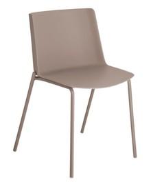 Krzesło z tworzywa NIAHAN - brązowy