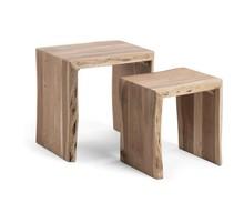 Zestaw dwóch drewnianych stolików IRYKA