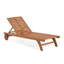 Drewniany leżak LEIBA do ogrodu