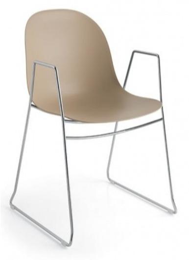 Industrialne Krzesło Na Płozach Z Podłokietnikiem Academy Cb1697 Do Salonu Jadalni Pokoju Biura Restauracji