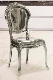 Krzesło BELLE EPOQUE lakierowane - srebrny