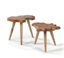 Zestaw dwóch drewnianych stolików ISHARR
