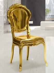 Krzesło BELLE EPOQUE lakierowane - złoty