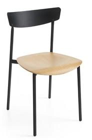 Krzesło z metalu i sklejki dębowej CLIP