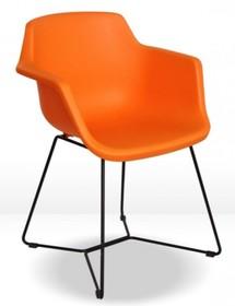 Krzesło z polipropylenu KELLY - pomarańczowy