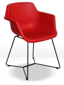 Krzesło z polipropylenu KELLY - czerwony