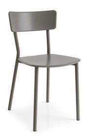 Krzesło z tworzywa i metalu JELLY