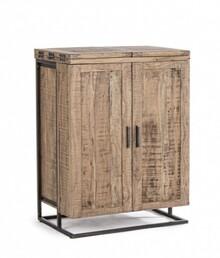 Rozkładana szafka barowa z drewna ELMER