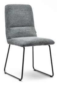 Nowoczesne krzesło tapicerowane ZOLA - szare