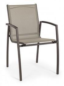 Krzesło ogrodowe HILDE COFFEE z podłokietnikami