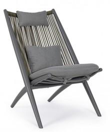 Fotel do ogrodu ALOHA - szary