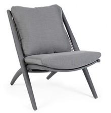 Fotel outdoorowy ALOHA - szary