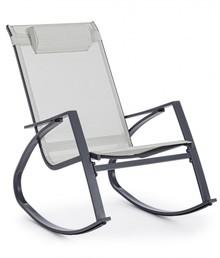 Bujany fotel ogrodowy DEMID GREY