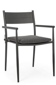 Krzesło do ogrodu KENDALL - szary