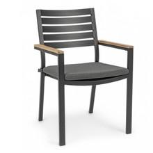 Krzesło ogrodowe DELMAR - ciemnoszary