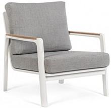 Fotel ogrodowy JALISCO - jasnoszary/biały