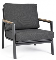 Fotel ogrodowy JALISCO - ciemnoszary