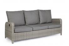 Sofa ogrodowa 3-osobowa KENT - szary