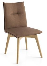 Krzesło obrotowe z drewnianą podstawą MAYA