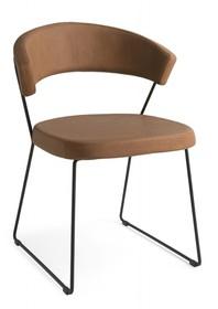 Krzesło tapicerowane na płozach NEW YORK