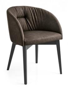 Krzesło na prostych nogach drewnianych ROSIE SOFT