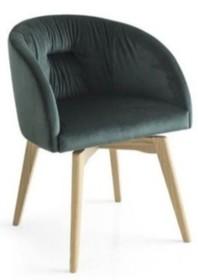 Krzesło z drewnianą podstawą ROSIE SOFT
