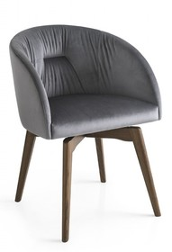 Krzesło obrotowe z drewnianą podstawą ROSIE SOFT