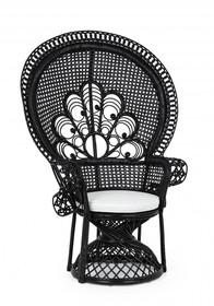 Fotel ogrodowy PEACOCK - czarny