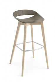 Hoker na drewnianych nogach COSMOPOLITAN H80 cm