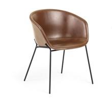 Krzesło tapicerowane DINE BROWN