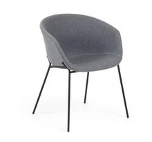Krzesło tapicerowane DINE GREY WOOL
