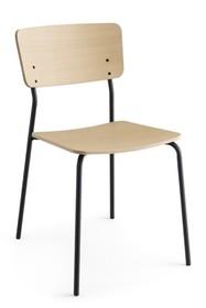 Krzesło z metalu i sklejki jesionowej SNACK