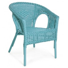 Krzesło ogrodowe ALLISS - niebieski