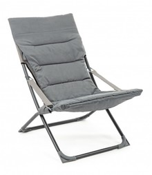 Składane krzesło ogrodowe RELAX L. ROCK - szary