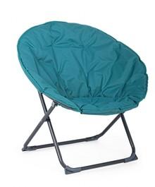 Składany fotel ogrodowy LUNA - niebieski