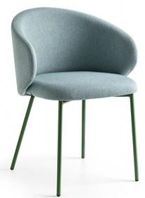 Fotel z metalową podstawą TUKA