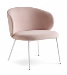 Duży fotel z metalową podstawą TUKA