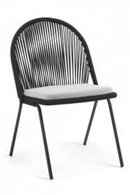 Krzesło na taras i ogród TADS - czarny