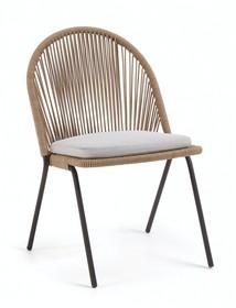 Krzesło na taras i ogród TADS - beżowy