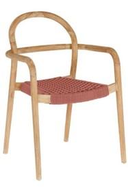 Krzesło do ogrodu RYLSHE - czerwony