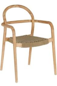 Krzesło do ogrodu RYLSHE - beżowy