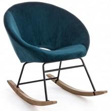 Fotel bujany ANNIKA - niebieski