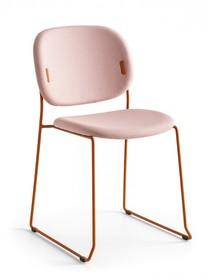 Tapicerowane krzesło na płozach YO!