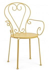Krzesło ogrodowe ETIENNE - żółty