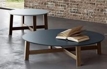 Okrągły stolik lakierowany EVAN 80